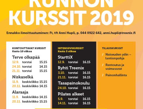 TreeniX Kunnon Kurssit syksyllä 2019