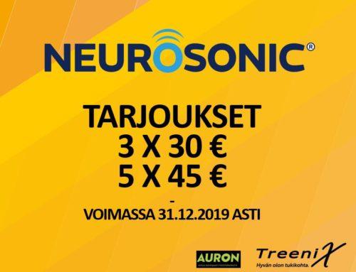 Neurosonic tarjous loppuvuodelle 2019