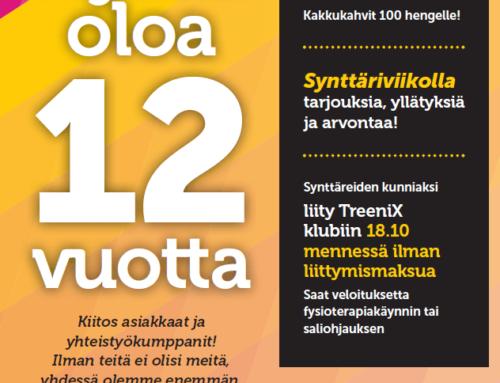 TreeniXin 12-vuotis synttärit 15.10.2019